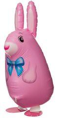 Ходячий шар Кролик розовый