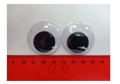 Бегающие глазки, пластмассовые. 35*35мм, 4шт, арт. 1210