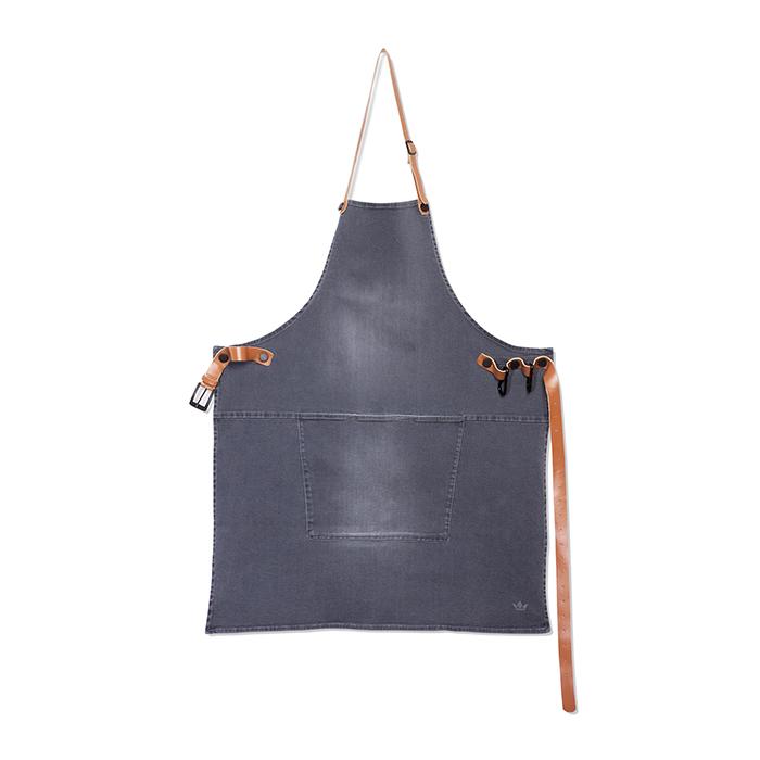 Фартук с карманом BBQ, хлопок, Серый, арт. 551925 - фото 1
