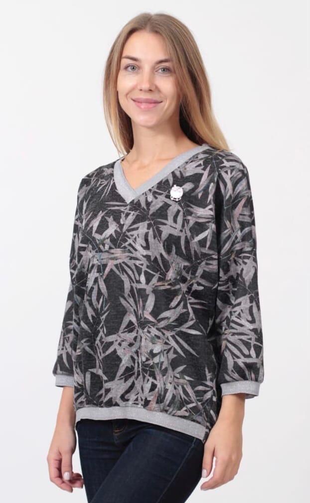 Блузка Kate 0851 листья (О20)