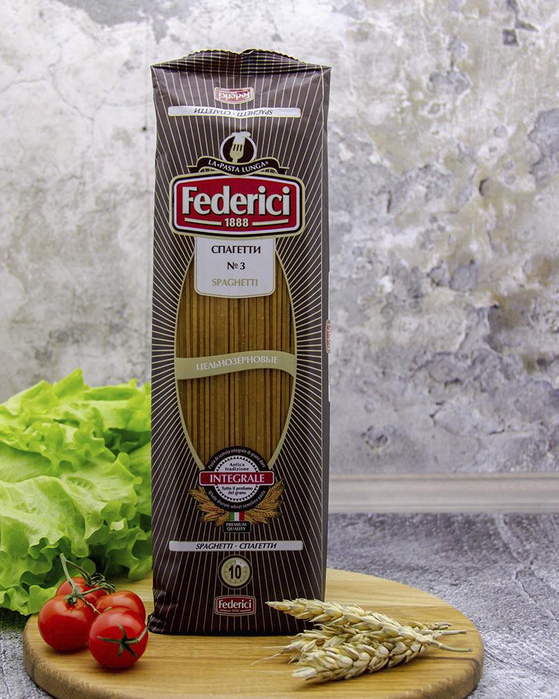 Макаронные изделия Federici Цельнозерновые Спагетти 400 гр.