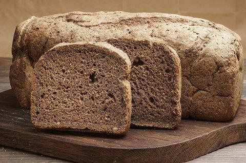 Хлеб веганский гречневый. Хлеб без глютена, лактозы, яиц и без дрожжей