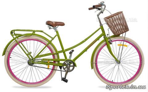 Міський жіночий велосипед Dorozhnik Comfort Female 2018 салатний
