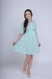 Платье для беременных и кормящих 08372 ментол