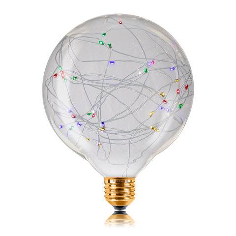 Декоративная светодиодная лампа Starry RGB G125 1,5W E27