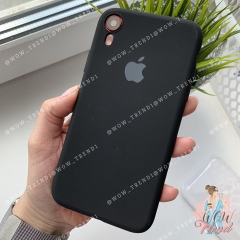 Чехол iPhone XR Silicone Slim Case /black/