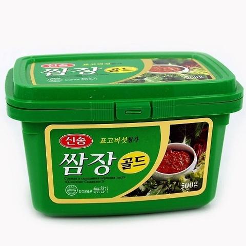 Средне-острая соевая перцовая паста Daesang Самдян для мяса 500 гр