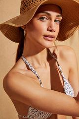 Натуральная пляжная шляпа с широкими полями