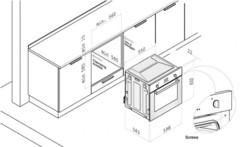 Духовой шкаф электрический Korting OKB 760 FN - схема