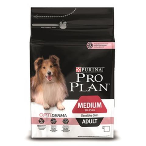 Adult Medium Sensitive Skin - для взрослых собак Cредних пород с чувствительной кожей, Лосось и Рис