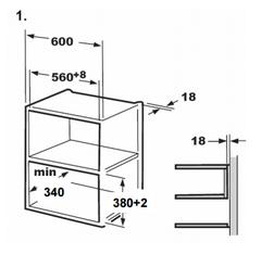 Микроволновая печь Midea AG820BJU-BL - схема