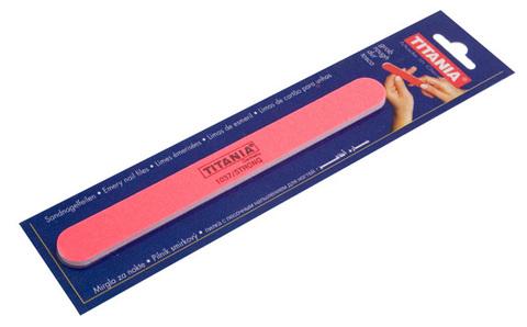 Пилочка для ногтей песочная розовая Titania