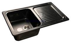 Мойка GranFest (ГранФест) Standart GF-S780L для кухни из искусственного камня, черный