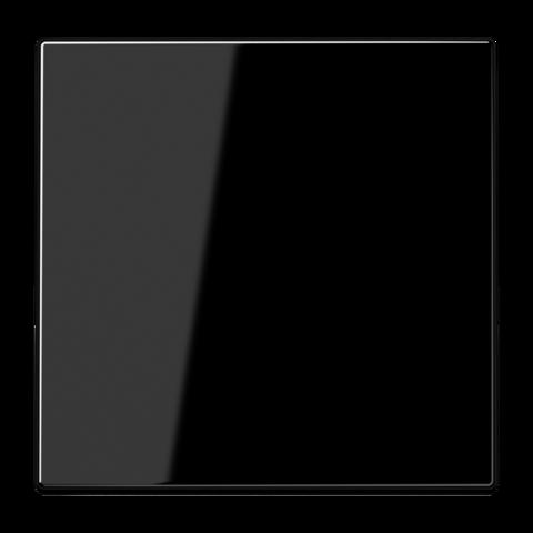 Выключатель одноклавишный. 10 A / 250 B ~. Цвет Чёрный. JUNG LS. 501U+LS990SW