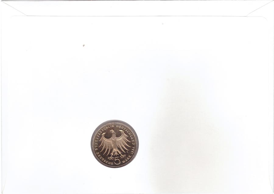 5 марок. 175 лет со дня рождения Феликса Мендельсона (J). Медноникель. 1984 г. PROOF. В конверте