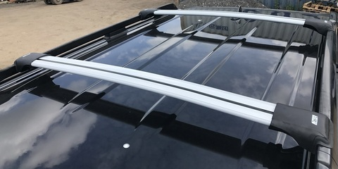 Багажник INTER Aerostar враспор рейлингов серебристые R 45-S