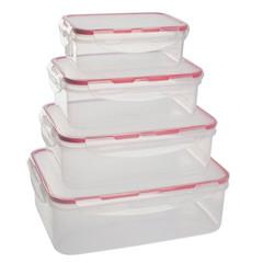 Набор контейнеров для продуктов Plastic Republic Amore прямоугольные пластиковые 4 штуки (артикул производителя GR1847)
