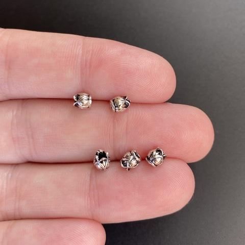 Бусина Бутон 4,3х4 мм серебро 925