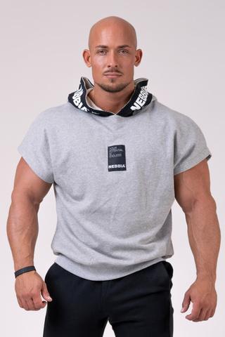 Мужская футболка Nebbia Reg top with hoodie 175 light grey