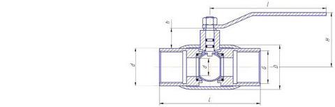 Конструкция LD КШ.Ц.М.015.040.Н/П.02 Ду15 стандартный проход