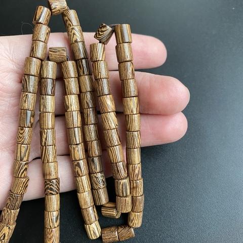 Бусина из сандалового дерева цилиндр 6,2х6 мм 1 бусина