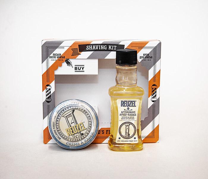 CARE170 Подарочный набор для бритья REUZEL «SHAVING KIT» крем и лосьон