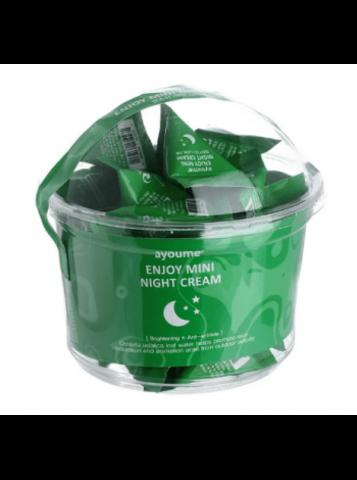 Ночной крем для лица с экстрактом центеллы азиатской Ayoume Enjoy Mini Night Cream (30  шт.)