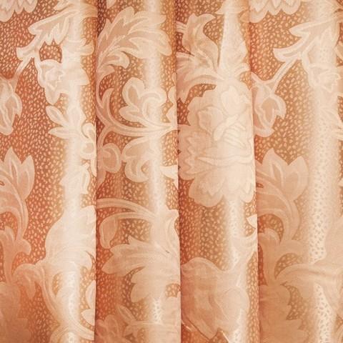 Портьерная ткань 150 см 32 цвет кремовый ветка