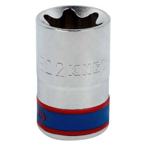 """Головка торцевая TORX Е-стандарт 1/2"""", E22 KING TONY 437522M"""