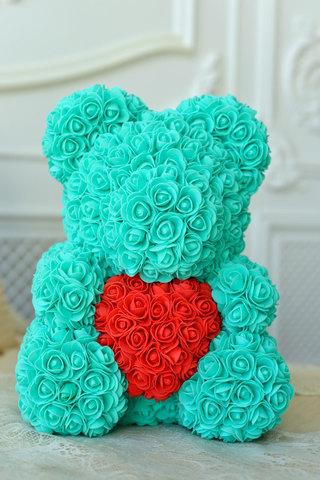 Мищка из Роз Тиффани с красным сердцем