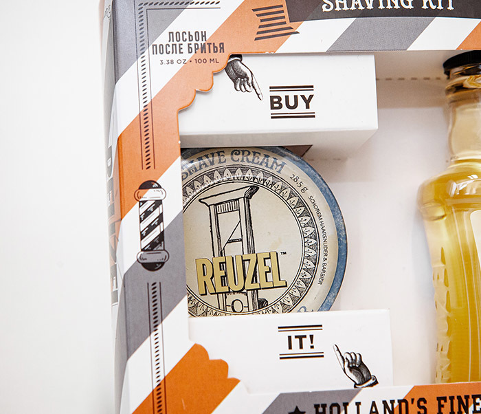 CARE170 Подарочный набор для бритья REUZEL «SHAVING KIT» крем и лосьон фото 02