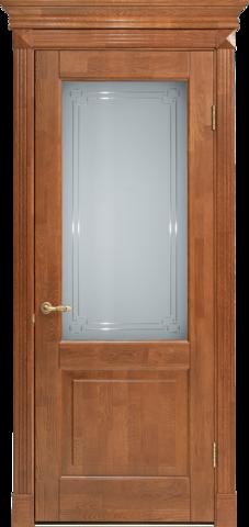 Дверь Лидер-Альверо Кантри (орех, глухая, массив дуба)