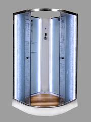 Душевая кабина DETO ЕМ1590 N 90х90 см с LED-подсветкой
