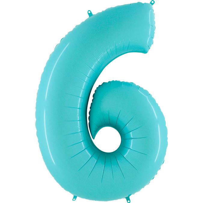 Голубая цифра 6