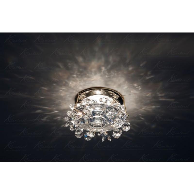 Встраиваемый светильник Kantarel FLOWER BED CD 003.2.1 crystal
