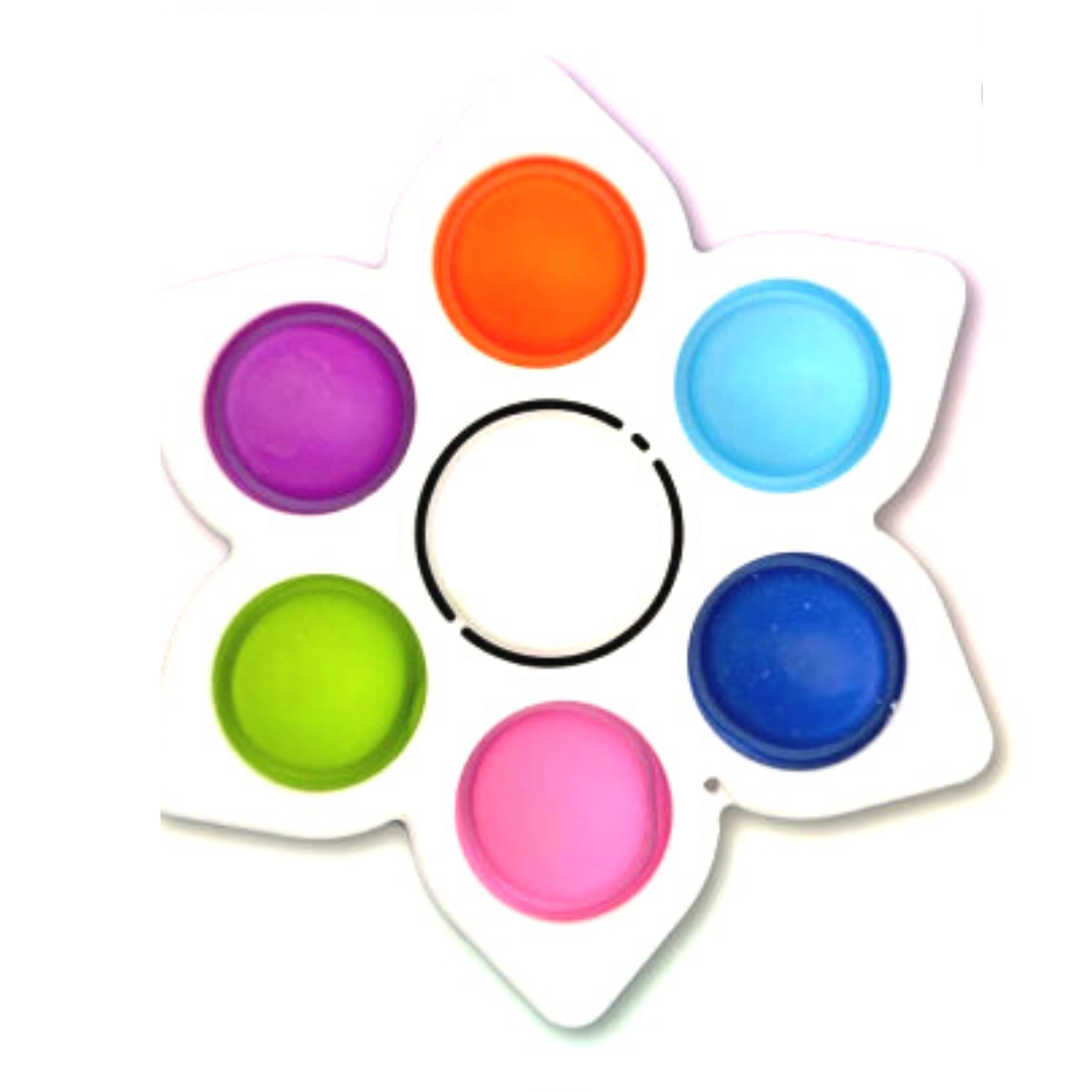 Пупырка вечная антистресс simple dimple (симпл димпл) спиннер цветок 1 шт белый