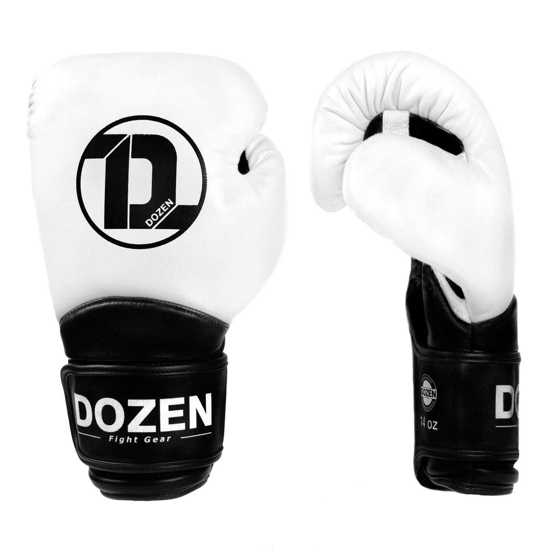 Перчатки Dozen Dual Impact White/Black вид сбоку