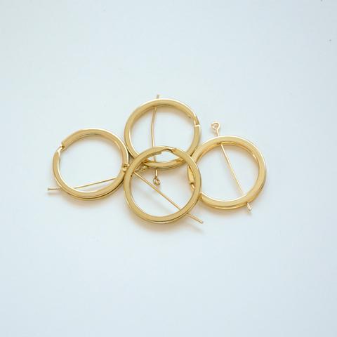 Соединительное кольцо плоское, 30мм, золотое