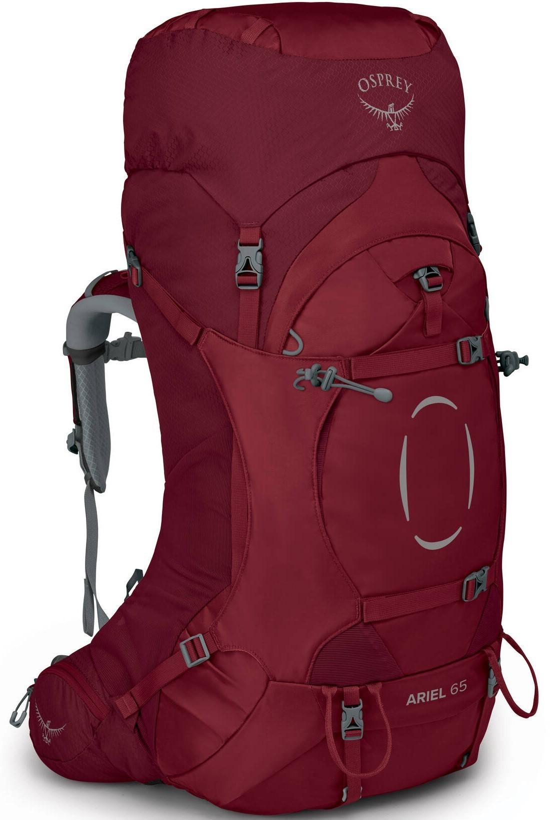 Туристические рюкзаки Рюкзак женский туристический Osprey Ariel 65 Claret Red Ariel_65_S21_Side_Claret_Red_web.jpg