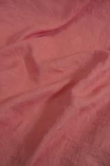 Ткань льняная, с эффектом мятости, цвет: коралл