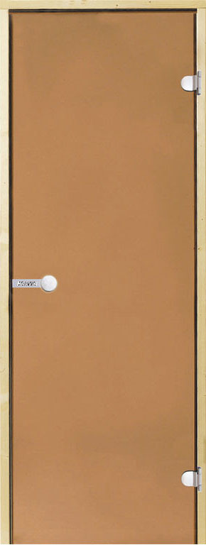 Дверь Harvia STG 7×19 коробка сосна, стекло бронза, фото 1