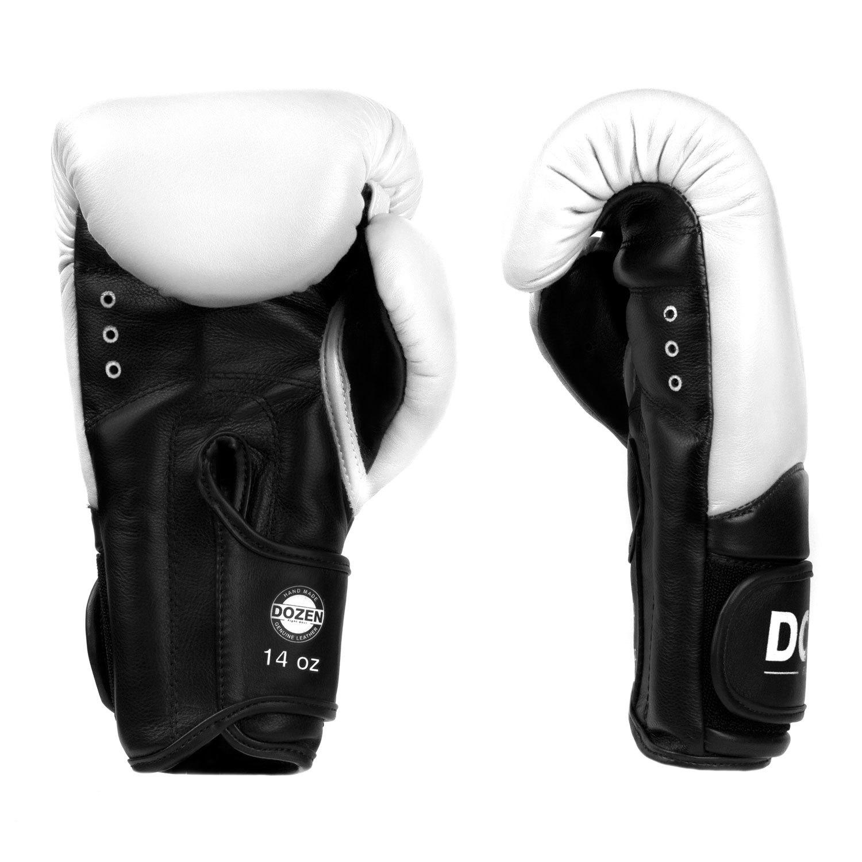 Перчатки Dozen Dual Impact White/Black доворот и ладонь