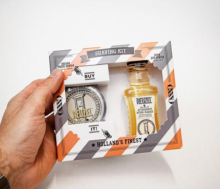 CARE170 Подарочный набор для бритья REUZEL «SHAVING KIT» крем и лосьон фото 04