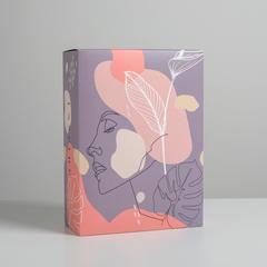 Коробка складная «Силуэт», 22 × 30 × 10 см, 1 шт.