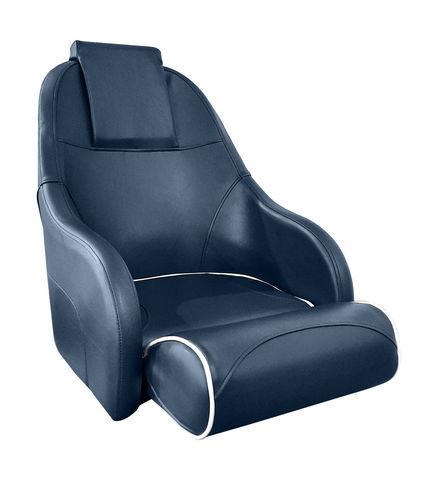 Кресло с болстером Ocean Flip Up, обивка синий винил