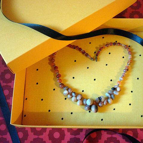 Подарочная коробка Горошек