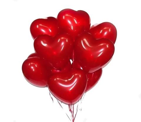 Букет шаров Большие сердца