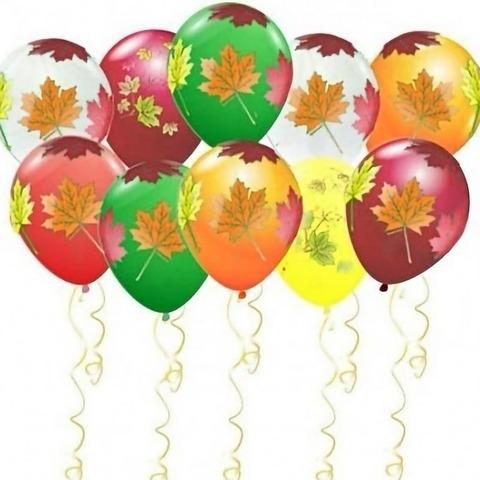 воздушные шары листья под потолок