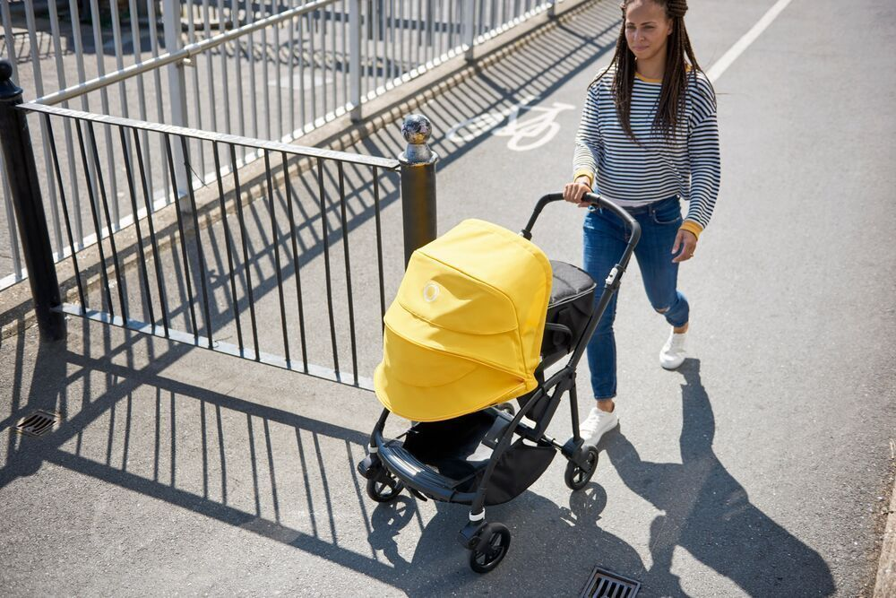 Коляска прогулочная Bugaboo Bee 6 complete Black/Black-Lemon Yellow