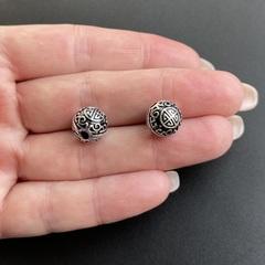 Бусина Манна 10,5 мм серебро 925